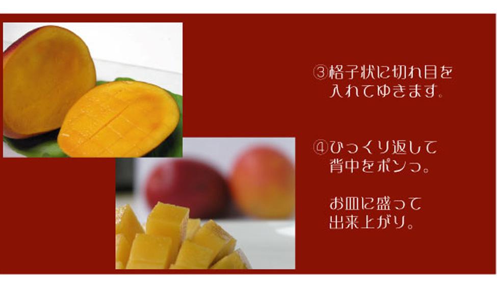 土佐マンゴー 切り方2
